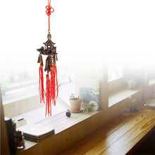 Fashion Retro Roof Bell Buddhism Hanging Wind Chimes Temple Lucky Feng Shui Chinese Knot Blessing Good Luck Home Decor Symbolism(China)