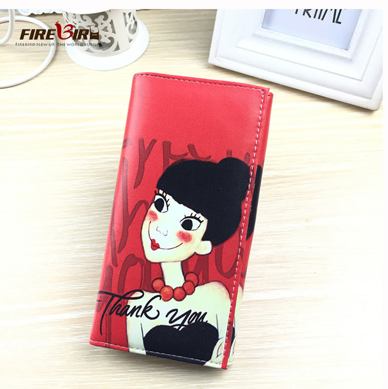 FIREBIRD!2015 Hot sale European and American Vintage Printing pattern long paragraph, Ms. purse womens wallets and purses HL6229<br><br>Aliexpress