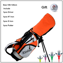 Kaidida Brand Junior Kids Children LEFT Handed Golf Clubs Half Set with Bag. Unisex Wood Driver Iron Putter Club Golf Clubs(China)