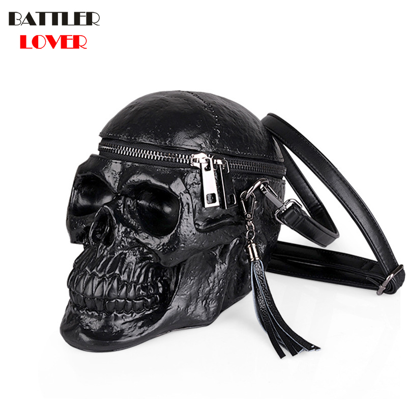 3D Skull Bag Womens Handbags Crossbody Bags Girls Shoulder Messenger Bag Femme Mujer Handbag for Women 2018
