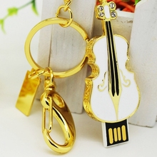 Crystal Violin Gift Jewelry Usb Flash Drive 32GB 128GB 16GB 64GB Pen Drive 256GB Pendrive Flash Card Memory Stick USB 512GB 2.0
