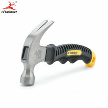 160mm Claw Hammer Mini Safety Hammer Carbon Steel Soft Rubber Handle For Woodworking Hand Tools