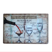 Hot Good Wine Metal Tin Sign WIENERS Coffee Pub Club Gallery Poster Vintage Plaque Wall Cafe Decor Plate Retro Metal Art Poster(China)