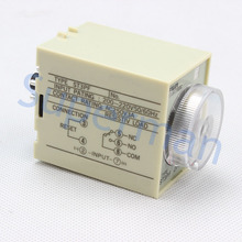 Power Off Delay Timer Time Relay 0-3 Minute 3M ST3PF with socket base AC 36V/110V/380V  DC24V