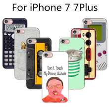 Soft TPU Case Cover For Apple iPhone 7 7S 7Plus Cases Phone Shell Super Fashion Funny Vintage Machine Cassette Tape Design(China)
