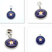 2017 Fashion Pendant MLB Houston Astros Charm Big Hole Beads Pendant Fit Bracelets Necklaces Jewelry Baseball Fans(China)