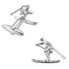 KC Luxury shirt Silver skiing cufflink for mens Brand cuff buttons cuff links High Quality abotoaduras Jewelry