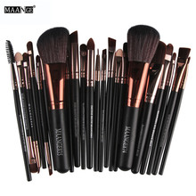 MAANGE Brand Professional 22pcs Cosmetic Makeup Brushes Set Blusher Eyeshadow Powder Foundation Eyebrow Lip Make up Brush kit