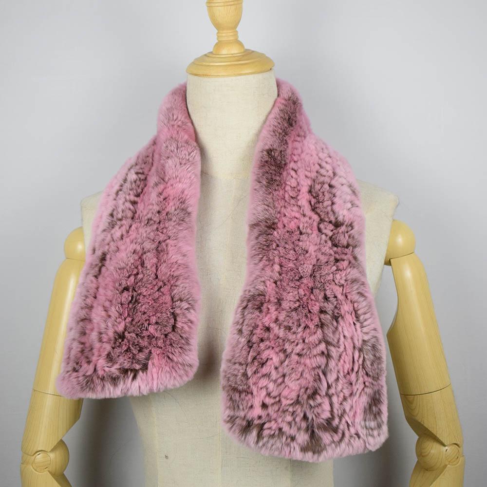 rex rabbit fur scarf short 11