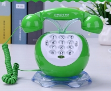 green and red fixed phone lovely cartoon fruit telefonos de casa landline phone telephone fixe telefono fijo  home telephone