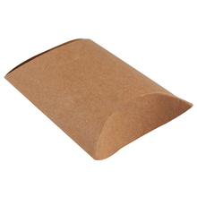 50 Pieces/lot New Style Kraft Pillow Shape Wedding Favor Gift Box,Party Candy Box (Khaki)