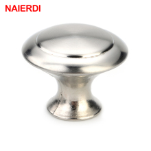20PCS NAIERDI Cabinet Handle Stainless Steel Circle Round Handles Drawer Furniture Wardrobe Knobs Pull Handle Furniture Hardware