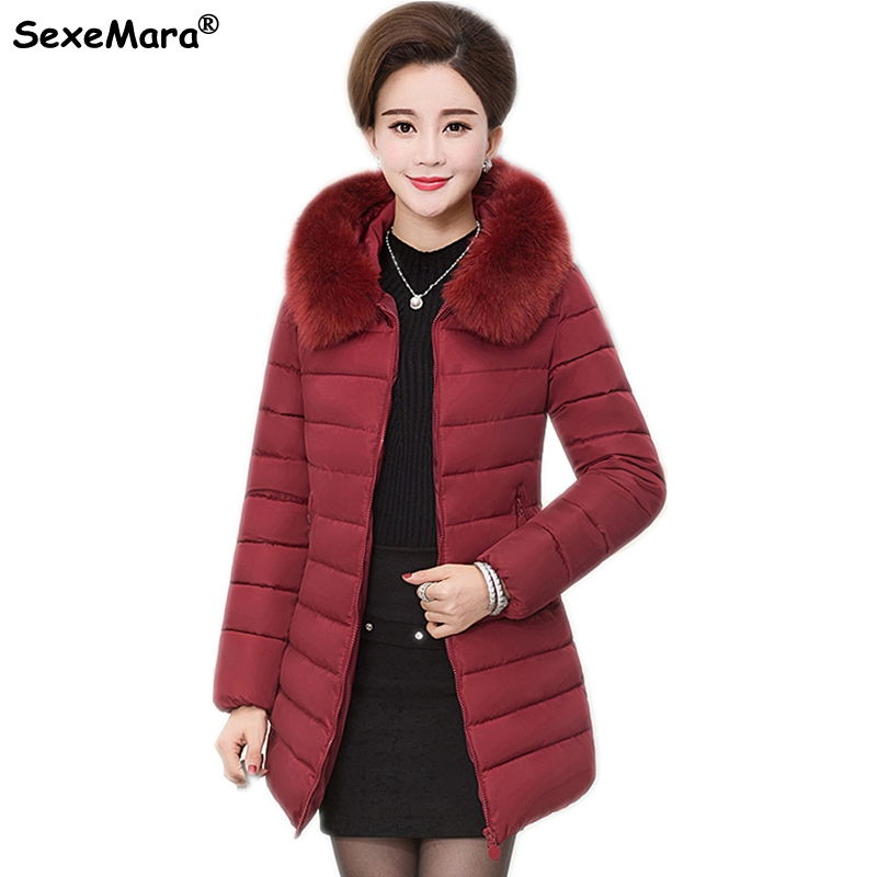 Large size XL-7XL winter coats womens Down Cotton coat thick Warm long parka Big fur collar hooded jacket Female winter OvercoatОдежда и ак�е��уары<br><br><br>Aliexpress