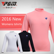 New Brand PGM Women Shirt Golf Clothing Tshirt Plus Velvet Think Underwear Shirt Winter Warm Clothes Soft Quick Dry S M L XL