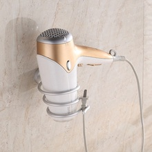 1pc Aluminum Wall Mounted Type hair dryer Bathroom Shelves living room home storage organizer Holder Accessories tools