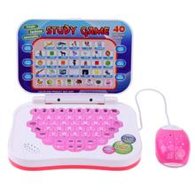 Bilingual Early Educational Learning Machine Kids Laptop Toys with Mouse Computer Baby Tablet English Learning Education Toys(China)