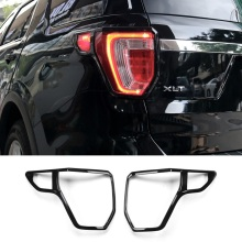 2pcs BLACK COLOR ABS chrome Rear Tail light lamp frame covers for NEW Ford Explorer 2016 2017 year