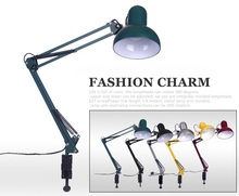 Can be caught Table Lamps long arm bedside lamp LED clip light eye work study student Pixar folding table lights ZA