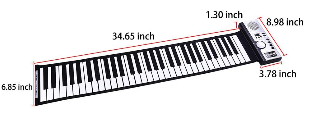 61 Key Keyboard Piano Flexible Roll Up Piano Preliminary Electronic Tool (1)