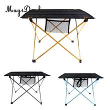 MagiDeal 1Pc Outdoor Folding Table Ultra-light Aluminum Alloy Structure Portable Camping Table Furniture Foldable Picnic Table