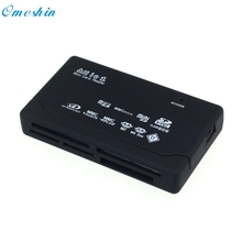 Adroit 1PC Black USB 2.0 Card Reader for SD XD MMC MS CF SDHC TF Micro SD M2 Adapter 25S61130 drop shipping