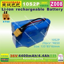 [Z008] 42V,36V / 4400mAh,4.4Ah Li-ion battery (18650*10S2P) for smart self balancing electric unicycle Scooter (CHINA cell )