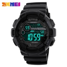 Outdoor Men Sports Watches 50M Waterproof Back Light LED Digital Watch Chronograph Shock Double Time F Wristwatches 1243(China)