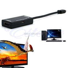 New MHL Micro USB to HDMI A A/V TV Adapter HDTV Short Cable for SamSung Sony #R179T# Drop shipping