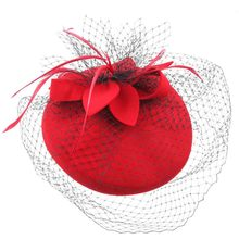 Fashion Wedding Banquet Women's Upscale Net Yarn Felt Hat Headdress Feather Hair Accessories Hairpin Covering The Face Headwear