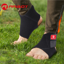 Arbot Black Adjustable Sports Safety Ankle Brace Support Stabilizer Foot Wrap For Ball Games Running Fitness M L(China)