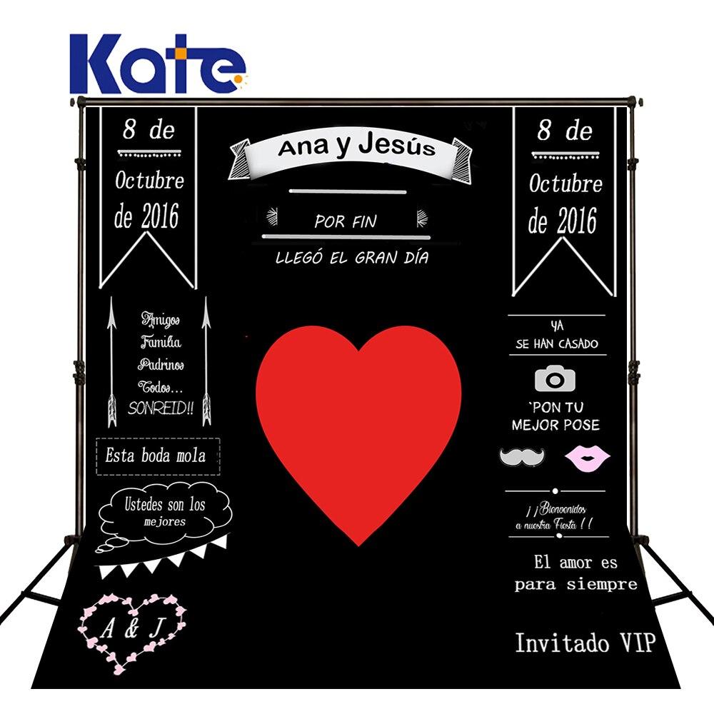 Kate Custom Wedding Blackboard Name Date Photocall Photography Studio Wedding Background Photo Backdrop Invite Signature J01682<br>