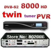 free shipping 8000hd satellite receiver 8000 TWIN TUNER DVB S2 MPEG4 hd receiver cccam rceeiver dvb s dongle sharing satellite(China)