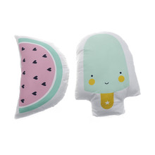 Kids Cushion Watermelon /Ice Cream Children Gift Stuffed Pillow Cushions Home Decoration 29*40cm(China)