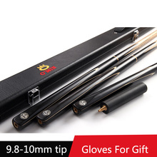 2016 Handmade 3 4 Jointed Snooker Cues Sticks With 3 4 Cue Case Set 9.8-10mm Tips Tacos De Snooker China(China)