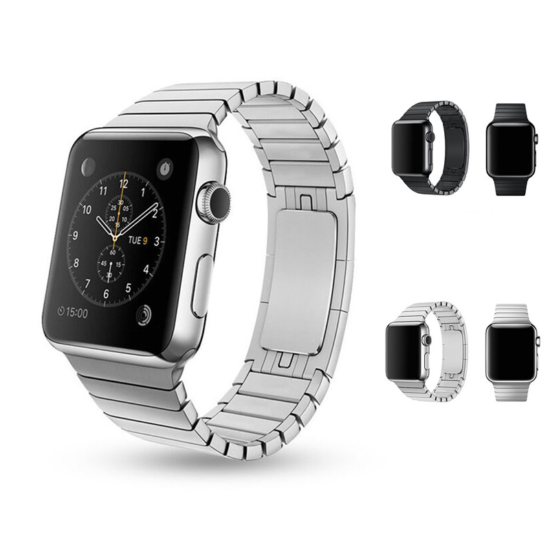 Link bracelet band strap for apple watch 42mm 38mm stainless steel Original metal buckle watchband for iwatch 2/1  Accessories<br><br>Aliexpress