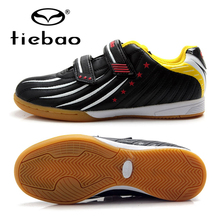TIEBAO Brand Indoor Soccer Shoes Children Kids Street Football Boots IN & IC Rubber Soles Boys Girls Training Sneakers EU 30-38(China)
