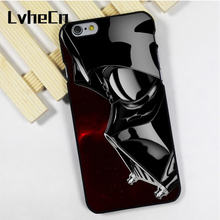 LvheCn phone case cover fit for iPhone 4 4s 5 5s 5c SE 6 6s 7 8 plus X ipod touch 4 5 6 Darth Vader Dark Side Star Wars Space(China)
