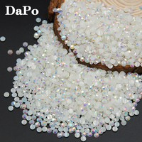 2017 Special Sales Jelly White AB Colors Round Candy Resin Nail Art  Rhinestone For 3D Nail aded3d11d871