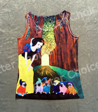 Track Ship+Vintage Vest Tanks Tank Tops Camis Snow White Princess with Seven Dwafts Dressed Pug Dog in Forest 0427(Hong Kong)