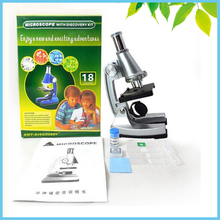 100X 200X 300X Monocular Plastic Children Toy Microscope with Light Source for Students Educational