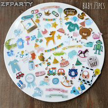 ZFPARTY Hello Baby Die Cuts Stickers for Scrapbooking Happy Planner/Card Making/Journaling Project 73pcs