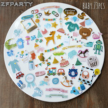 ZFPARTY Hello Baby Die Cuts Stickers for Scrapbooking Happy Planner/Card Making/Journaling Project 73pcs(China)