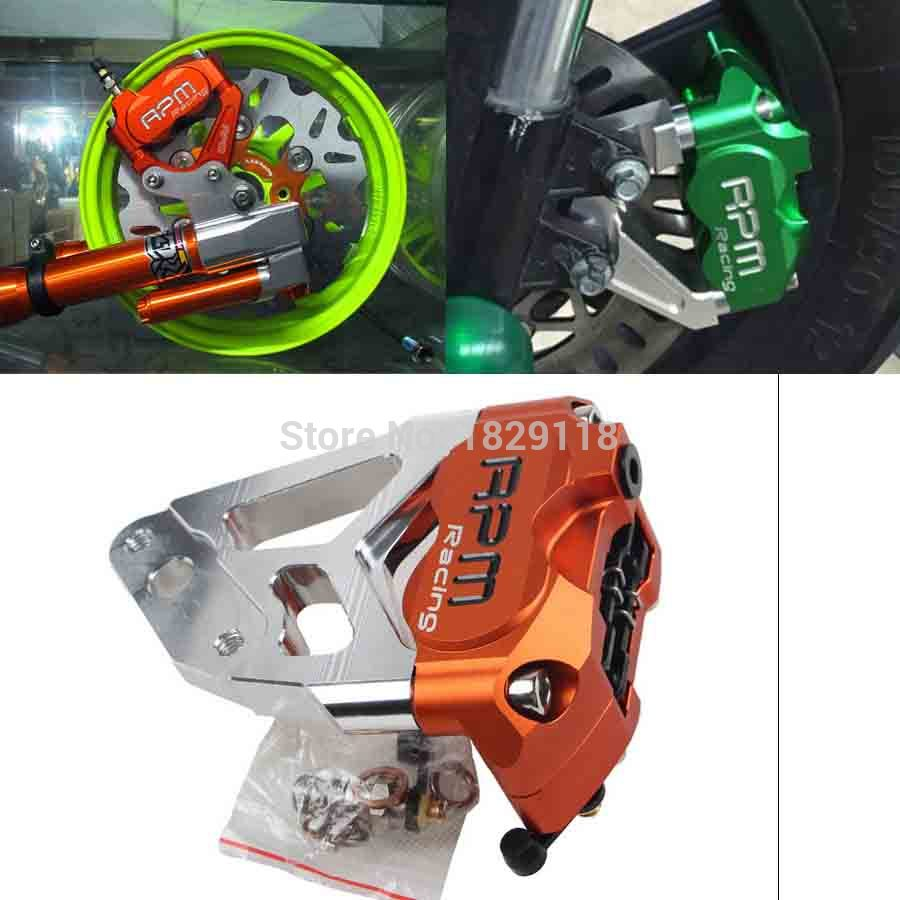 Universal RPM CNC Electric Motorcycle Scooter Four Piston Brake Caliper+200mm/220mm Disc Brake Pump Adapter Bracket for yamaha<br><br>Aliexpress
