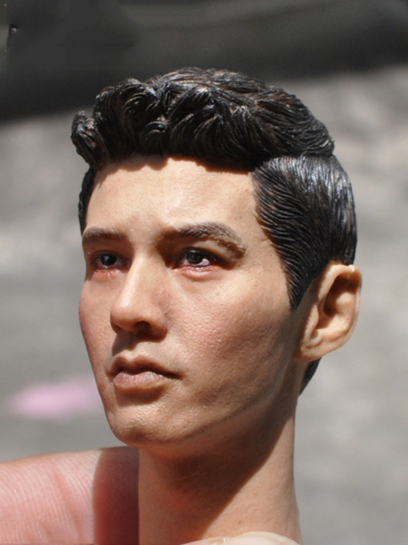 Asian Mens Head Sculpt  1/6 Scale for 12 Inches Male Bodies Figures Dolls<br>