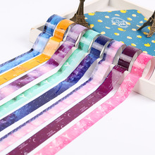 10 PCS Masking Tape Pvc Roll DIY Starry Sky Washi Decor Scrapbooking Sticker Office Supplies