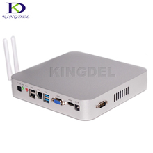 Kingdel Braswell 5th Gen 14nm Intel Celeron N3150 Quad Core Fanless Mini PC HDMI VGA Full Metal Case Zero Noise Desktop Computer