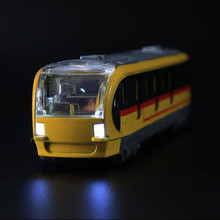 Metro toy car High Speed Rail locomotive Alloy car Harmony track Sound and light Metro Model toy car(China)