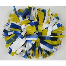 "6"" Cheerleader pompoms ( 10 pieces/lot) Three-colour pp cheerleading sports pompoms supplies Color can free combination"