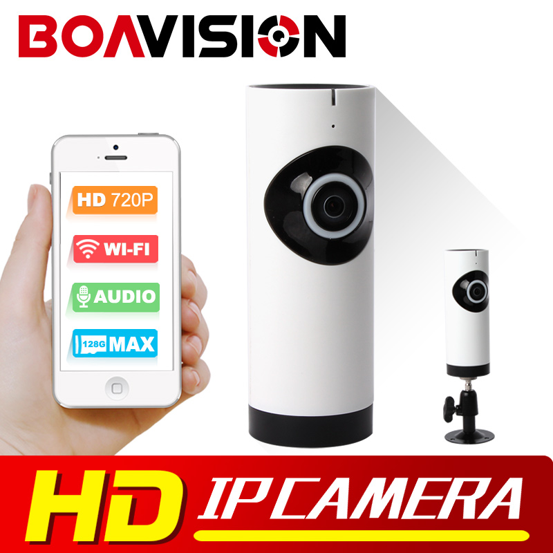 BOAVISION HD 720P Wifi IP Camera Wireless Panoramic Night Vision Mini Baby Monitor 1.0MP Smart Cam P2P IP Camera CCTV Security<br>