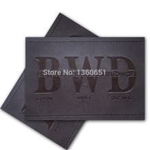 raw material supplier for jeans embossed leather label/tags(China)